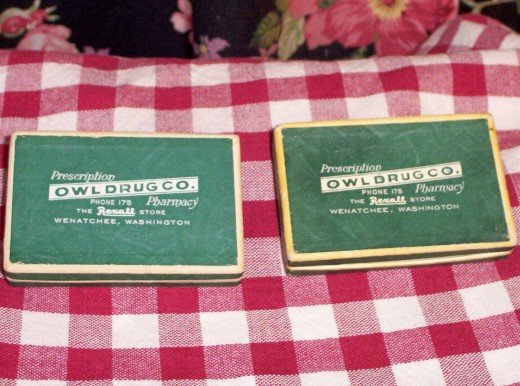 ONE LEFT!  Rexall Owl Drug Co Prescription Pill Boxes FREE SHIPPING!