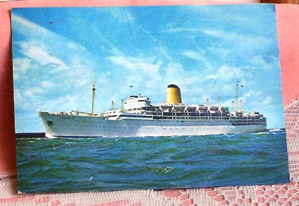 Cruise Ship Arcadia Vintage Maritime Post Card FREE SHIPPING!