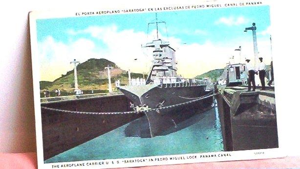 I.L Maduro Jr Maritime Panama Canal Post Card FREE SHIPPING!