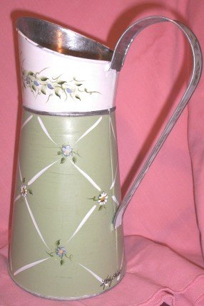 Kathy Hatch Decorative Toll Painted Pitcher FREE SHIPPING!