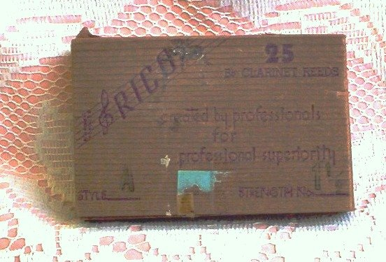 SOLD! Vintage Rico Clarinet Reeds Box ~ Empty
