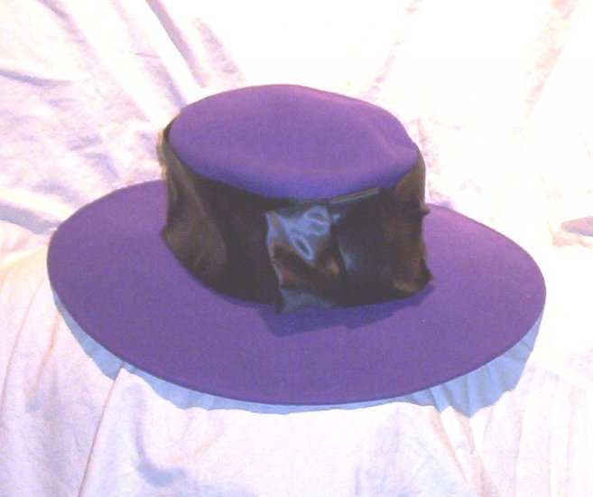 SOLD! Ladies Michael Howard Wide Brimmed Wool Purple Hat FREE SHIPPING!