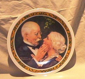 Norman Rockwell 1976 �Golden Christmas� Collector Plate FREE SHIPPING!