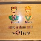 Chrissy Tray  with vintage decals from the Ohe Family! FREE SHIPPING!