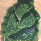 """Rhubarb"" Leaf Serving Dish by Coral M ? 1951 FREE SHIPPING!"