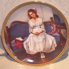 "Norman Rockwell Rediscovering Women Collector Plate "" Waiting for the Dance"" FREE SHIPPING!"