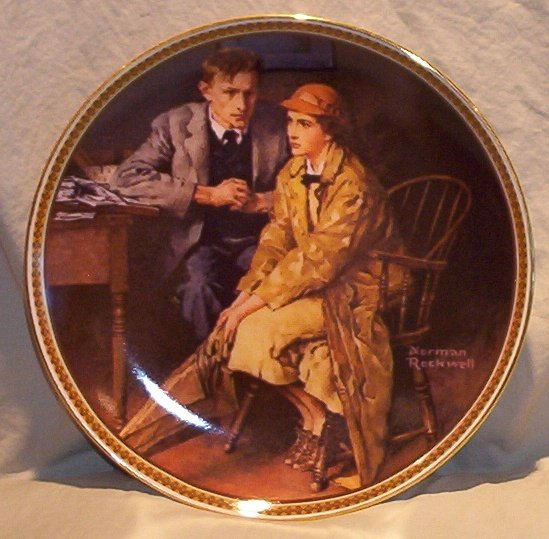 Norman Rockwell Rediscovering Women Collector Plate �Confiding In the Den� FREE SHIPPING!