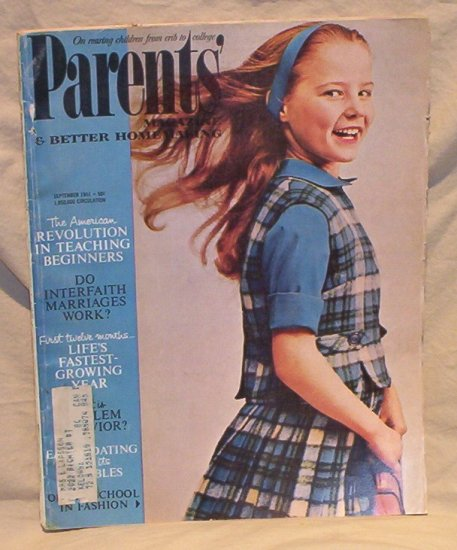 Parents� Magazine September 1961 FREE SHIPPING!