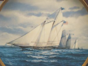 America�s Greatest Sailing Ships Collectors Plate : �America� FREE SHIPPING