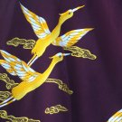 Japanese Maroon Kimono with Yellow Bird Embroidery FREE SHIPPING!