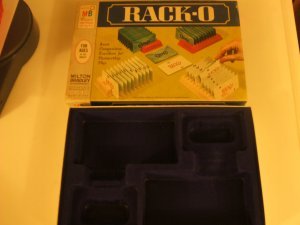 1961 Rack-O MB Game box only