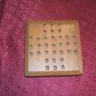 Handmade Wooden HI-Q and Tic-Tac-Toe Board