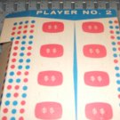 Concentration Game 1959 Player #1 prize board