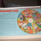 Raggedy Ann Game 1974 Spinner and rules