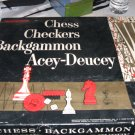 1963 Transogram Game Set Chess, Backgammon, Checkers, Acey Duecey   Complete