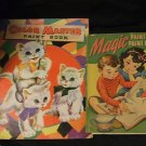Vintage Color Master & Magic Paintless Paint Books 1949