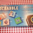 1958 Scrabble For Juniors Selchow & Righter Ages 6-12
