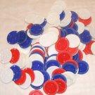 128 Vintage Poker Chip Plastic red/white/blue