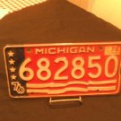 Michigan License Plate Bicentennial 1976 682850