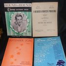 Four Vintage Organ and Piano  Music Books 50's
