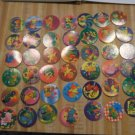 1994 - 5 Pogs Lot of 44 Cute Dinosaurs & Animals  Lot B