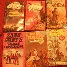 Six Vintage Zane Grey Paperbacks Westerns 1970's