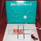 1991 Wonderboard Magnetic Travel Tic Tac Toe & Checkers