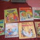 7  Kid's Books 1960's - 80's Disney Mickey Mouse Golden