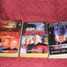 3 Star Trek Novels The Next Generation #1 #2 #3 1988