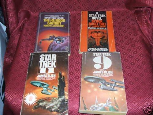 4 Vintage Star Trek Novels 9,11 Spock Must Die Klingon