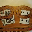 29 Wooden Cribbage Board 2 tracks has pegs