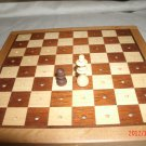 Travel Size Chess set with nice shaped wood pieces Complete very cool
