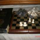 Magnetic Travel Size Chess set with box, nice shaped plastic pieces Complete