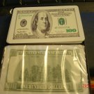 2 Decks Playing Cards 100% Plastic Cards $100 Dollar Bills Factory Wrapped