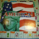 America! In a Box. Monopoly style game.  Almost Complete
