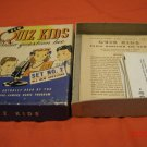 Vintage 1942 Quiz Kids Game Radio Question Bee Set No. 2 Complete