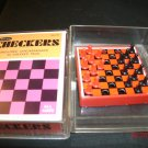 1966 Whitman Checkers Set Small - size of deck of cards