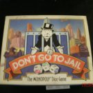1991 Monopoly Dice Game DON'T GO TO JAIL Complete