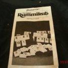 Rummikub 1977 By Pressman  Original Directions sheet