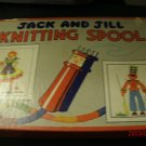 Vintage Jack and Jill Knitting Spool Includes Spool, directions and yarn OLDIE