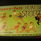 1972 Fuzzy-Felt Fun At Sports by Allen Industries Lots and Lots of Felt Pieces