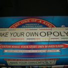 1998 Make Your Own Opoly Unused Complete
