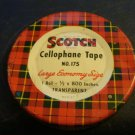 Vintage Scotch Cellophane Tape No. 175 in a Tin Box - Empty