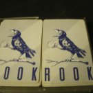 Parker Brothers ROOK Card Game in Case with Rules Book Old Style Blue Bird Backs