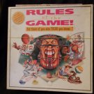 Rules Of The Game Board Game Sports Trivia