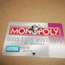 Monopoly Electronic Banking Game Part - 1 Bankcard - Purple
