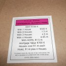 Monopoly Electronic Banking Game Part - 1 Deed Card Magenta