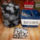 Water Beads - Gel Beads - Plant Soil Beads 1 bag Black & White