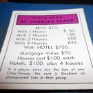 1974 Parker Brothers Monopoly Deed Card St. Charles Place