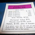 1974 Parker Brothers Monopoly Deed Card States Ave